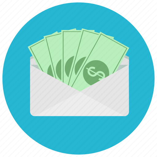 bills, dollar, envelope, finance, payment icon