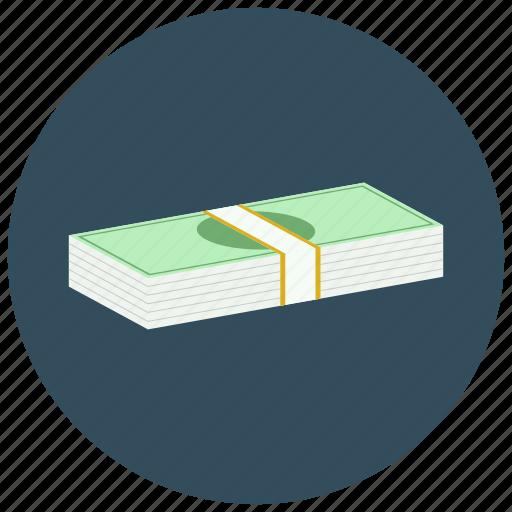 dollar, finance, money, stack icon
