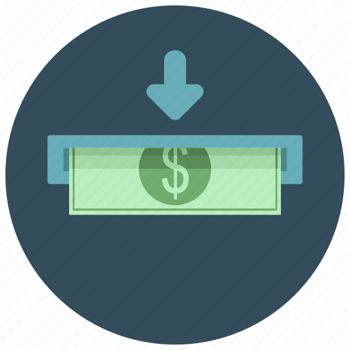 cash machine, extract, finance, money, payment icon