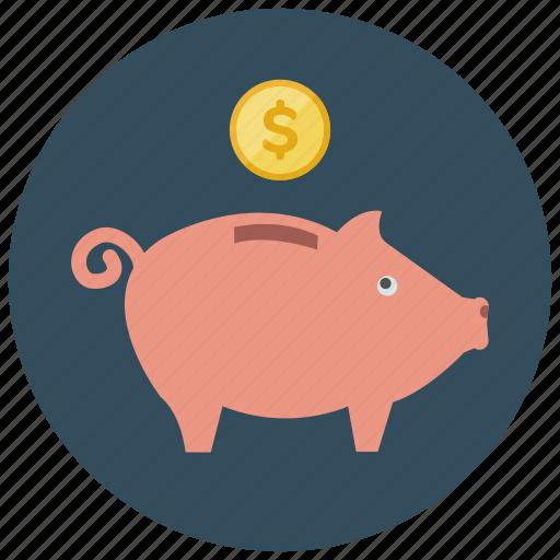 finance, money, piggybank, saving icon