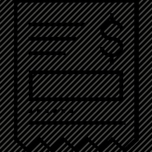 Bill, invoice, receipt, tally, voucher icon - Download on Iconfinder