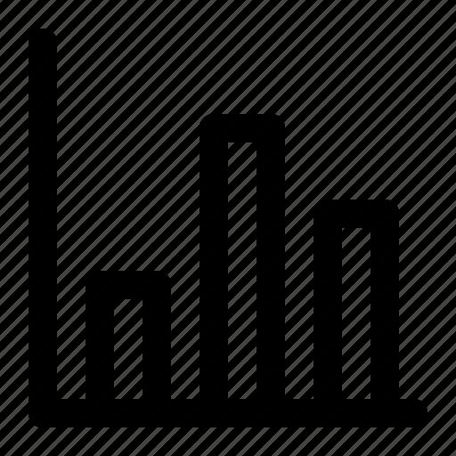 analytics, bars, finance, graph icon