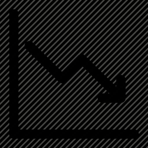 Analytics, deflation, finance, graph icon - Download on Iconfinder
