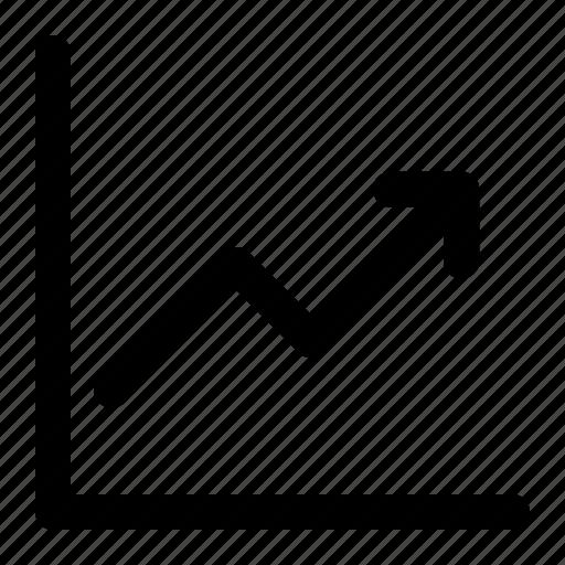 analytics, graph, inflation, stock exchange icon