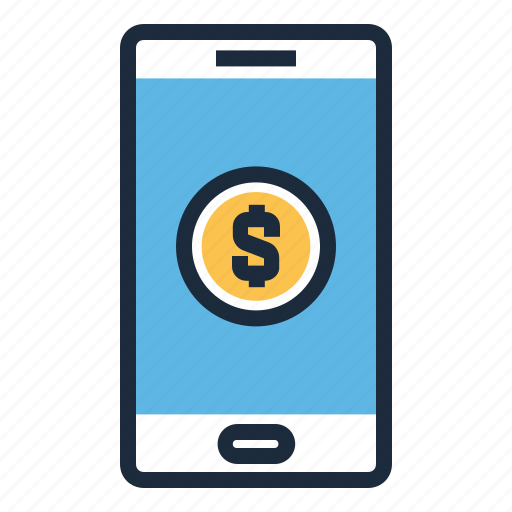 banking, finance, mobile, money, phone icon