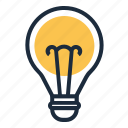 idea, inovation, lamp icon