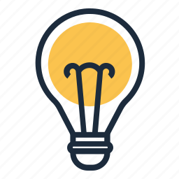 idea, inovation, lamp icon