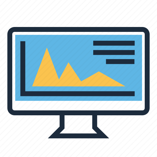 computer, graphic, statistic icon