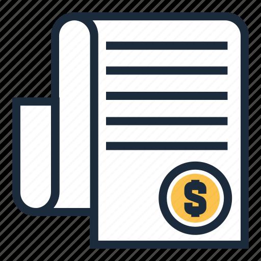 bill, invoice, tax icon