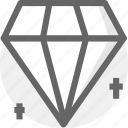 credit, diamond, finance, financial, money, valuable icon