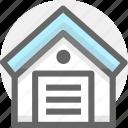 depositary, depository, depot, finance, storehouse, warehouse, wareroom icon