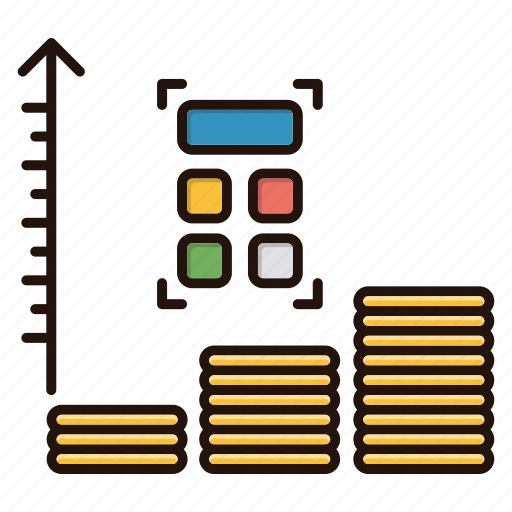 business, chart, expenses, finance, growth icon