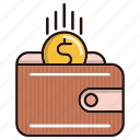 business, finance, money, revenue, wallet icon
