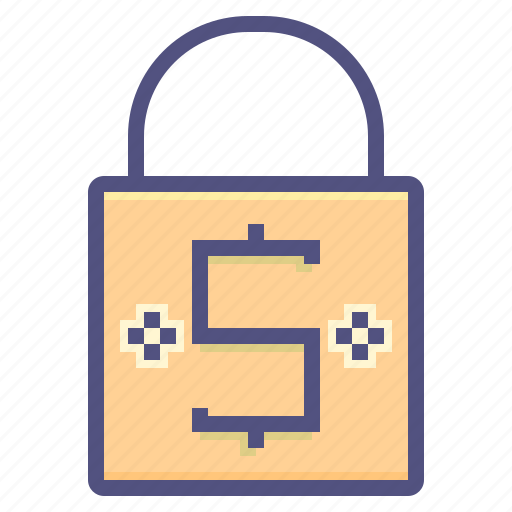 business, finance, lock, marketing, money icon