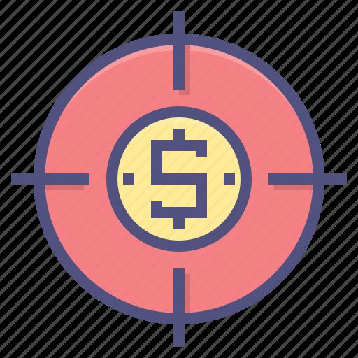 business, finance, financial, marketing, money, target icon