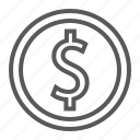 banking, coin, currency, dollar, finance, gold, sign