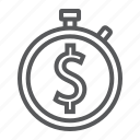 banking, business, finance, income, money, time, timer icon