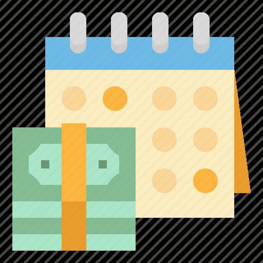 calendar, date, money, save, time icon