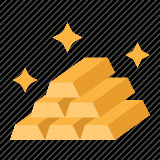 bar, business, finance, gold, ingot icon