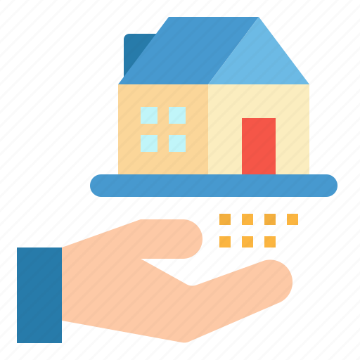 estate, hands, property, real, sale icon