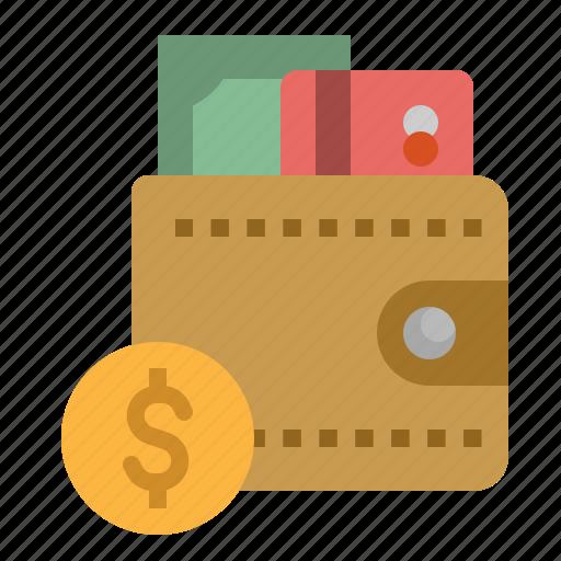 bill, card, coin, money, wallet icon