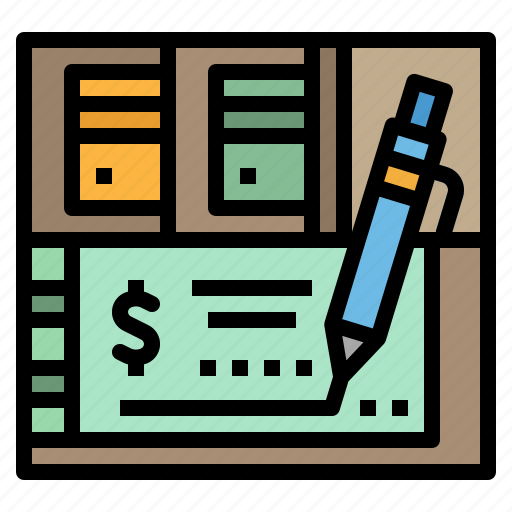 banking, business, checkbook, finance icon