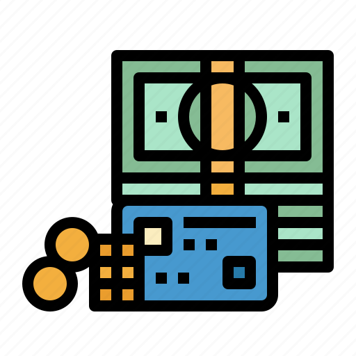 bills, card, cash, money, profits icon