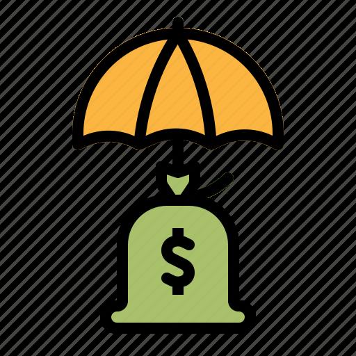 bag, bank, banking, money, protection icon