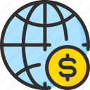 business, coin, finance, globe, payment, world icon