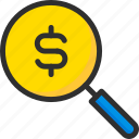 business, finance, money, search icon