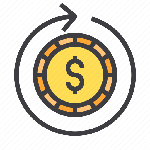 business, circulating, financial, money, wallet icon