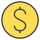 business, dollar, financial, money, wallet icon