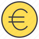 business, euro, financial, money, wallet icon