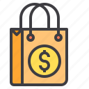 bag, business, financial, money, shopping, wallet icon