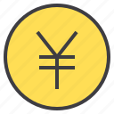 business, financial, money, wallet, yen icon