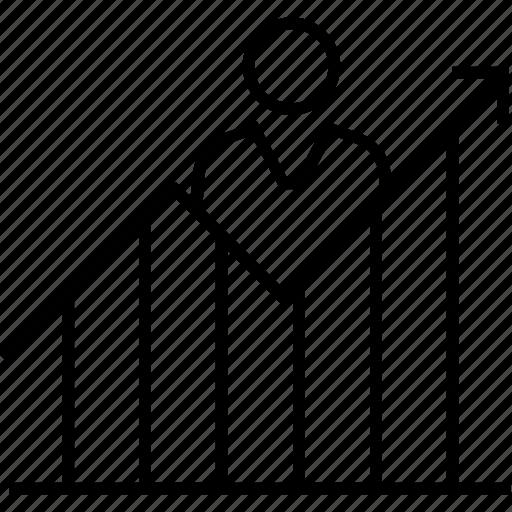 bar chart, bar graph, career growth, graph, growth graph icon