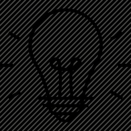 bulb, creativity, idea, illuminate, light icon