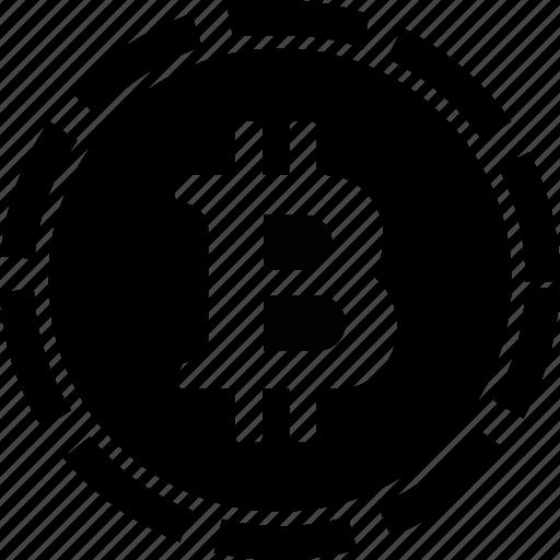 bitcoin, business, finance, money icon