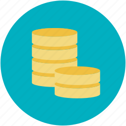 coins stack, currency, funds, money, savings icon
