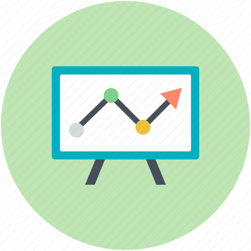 analysis, analytics, business presentation, easel, statistic icon