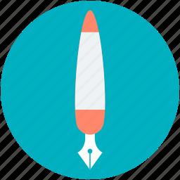 fountain pen, ink pen, nib, pen, pen nib icon