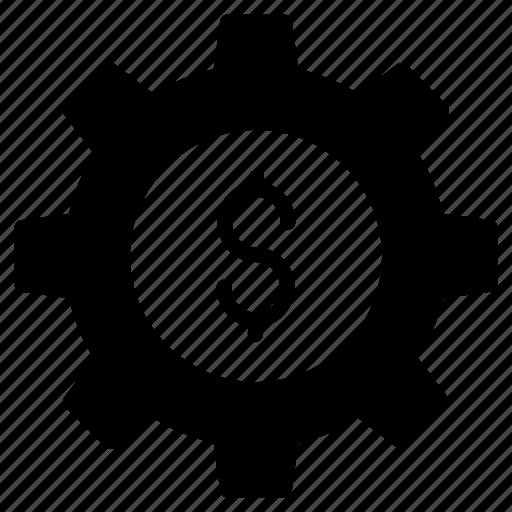 dollar, finance, money, preference, setting icon