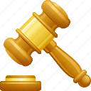 auction, gavel, gavel banging, justice, mallet icon