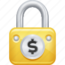 dollar, finance, insurance, lock, locked, security