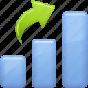 arrow, business report, chart, graph, profit, report icon