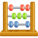 abacus, accounting, counting, education icon