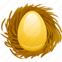 401k, egg, golden egg, nest, nest egg, pension, retirement fund icon