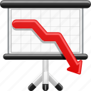 business, debt, finance, graph, investment, projection screen, report icon