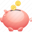 coin, coin bank, deposit, finance, piggy bank, savings icon