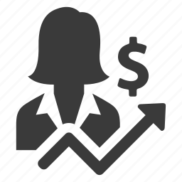 business, finance, income, increase, money, person, profit icon